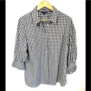 Tommy Hilfiger gingham print button down #8H